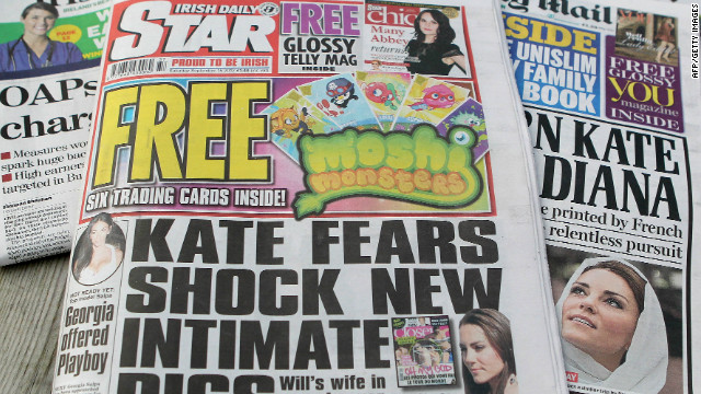 Irish Daily Star editor resigns over Kate Middleton topless photos
