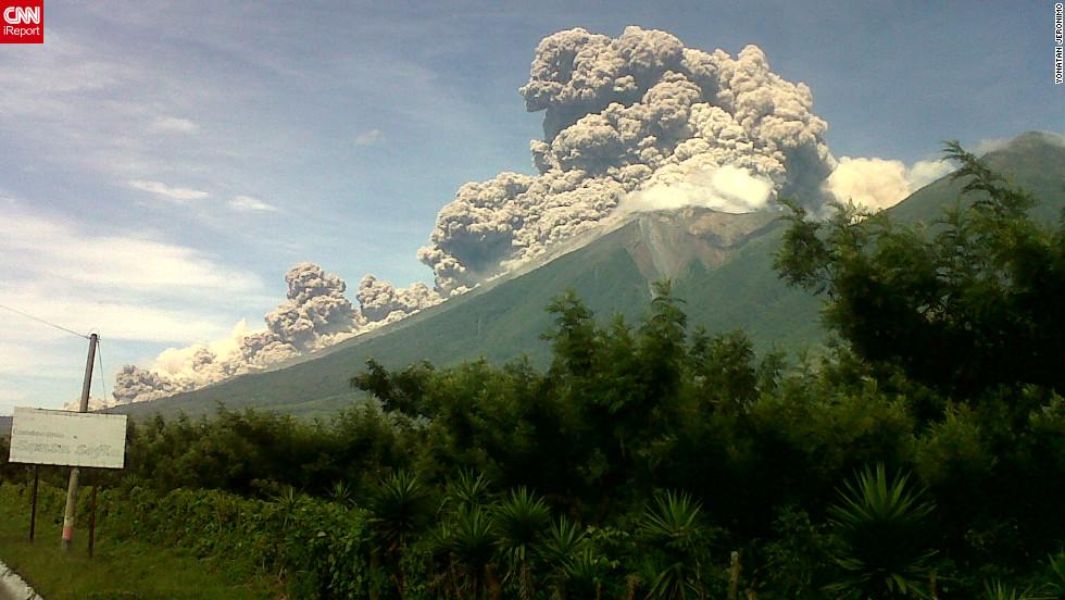 Volcán de Fuego en Guatemala