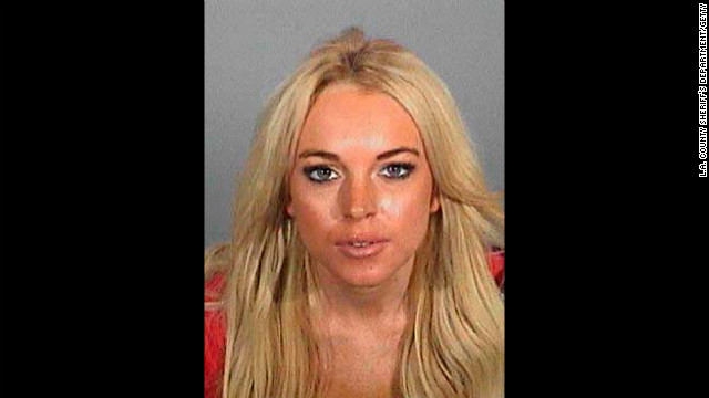 Lohan poses for a booking photo after being arrested on DUI charges at Lynwood Jail in November 2007. Lohan voluntarily reported to the facility to serve her minimum 24-hour jail sentence that was part of a plea bargain for two DUI charges.