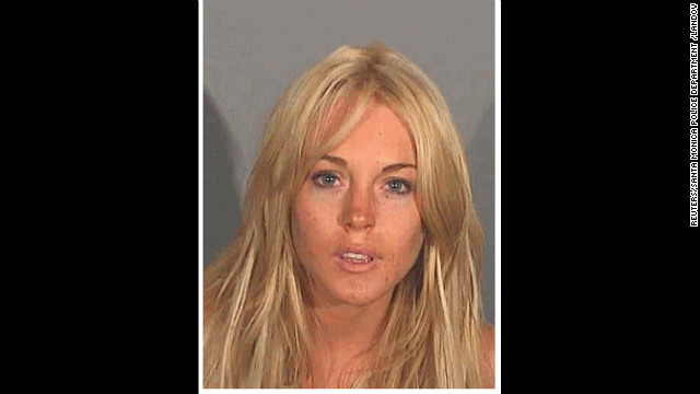 Lohan's mug shot from July 2007 for driving under the influence.