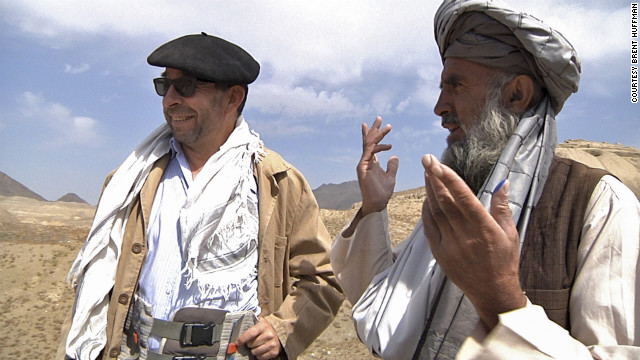 French specialist Philippe Marquis, director at DAFA, the French archaeology delegation in Afghanistan, talks with the leader of the local workers at Mes Aynak.