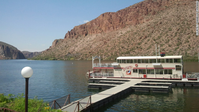 The Dolly Steamboat offers both daytime and dinner cruises on Canyon Lake.