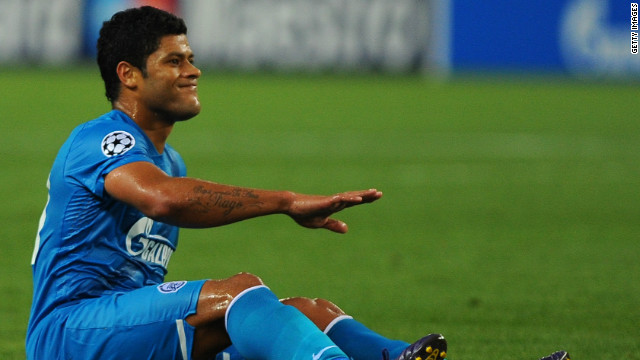 Big-spending Zenit St Petersburg, who recruited Hulk (pictured) and Axel Witsel from Portuguese football during the recent transfer window, were stunned by Spanish Champions League debutants Malaga.
