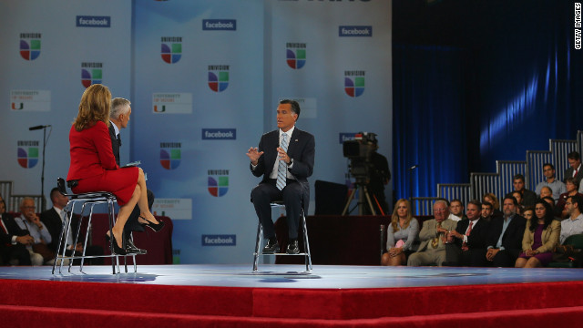 Romney steps up effort to woo Latino voters in Univision forum