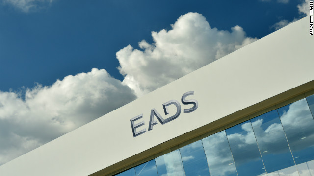 The logo of European aerospace giants EADS at the International Air Show ILA in Schoenefeld near Berlin on September 13.