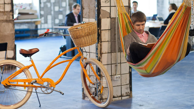 European cities have embraced the co-working concept. Zonaspace (pictured) in St Petersburg, Russia, is said to be the largest co-working place in the country.