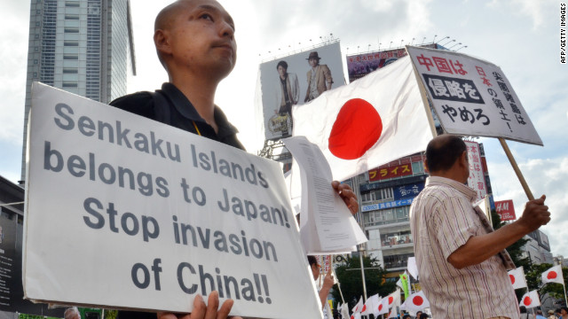Protests against China's stance on the Senkaku/Diaoyu islands have so far been limited.