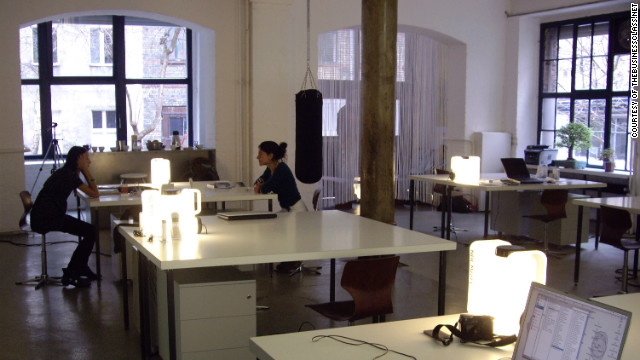 This space is in the neighborhood of Kreuzberg, a center of creative culture in Berlin.