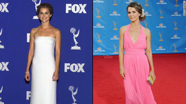 """Felicity"" star Keri Russell knows less is more. The actress wore a simple white gown in 1999 and a flirty pink dress in 2010."
