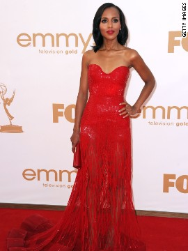 Kerry Washington matched the red carpet in 2011 with this stunning gown.