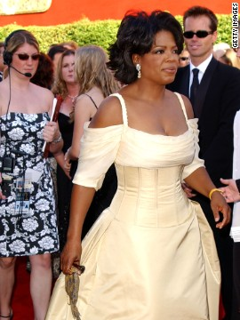 Oprah Winfrey looked regal in this canary yellow gown in 2002.