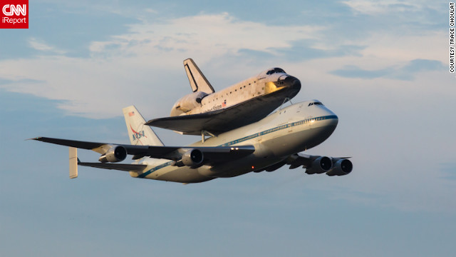 Endeavour and the shuttle carrier aircraft pass back over NASA's &lt;a href='http://ireport.cnn.com/docs/DOC-843919'&gt;Shuttle Landing Facility&lt;/a&gt; in Florida before turning west.