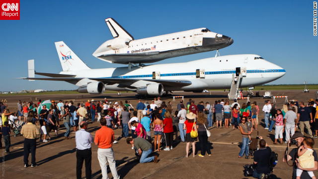 The public was invited to <a href='http://ireport.cnn.com/docs/DOC-844016'>view the shuttle</a> as it rested at Ellington Field.