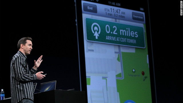 Apple Senior VP of iPhone Software Scott Forstall speaks during a keynote address in June in San Francisco.