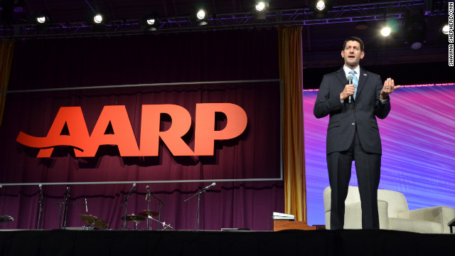 Paul Ryan Obamacare criticisms booed at AARP