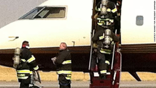 Ann Romney's plane made an emergency landing in Denver last week after smoke filled the cabin.