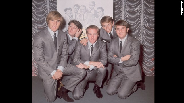 The Beach Boys pose for a photo in 1964.