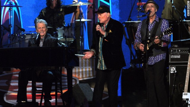 The Beach Boys perform at the 54th Annual Grammy Awards held at Staples Center in February 2012 in Los Angeles. 