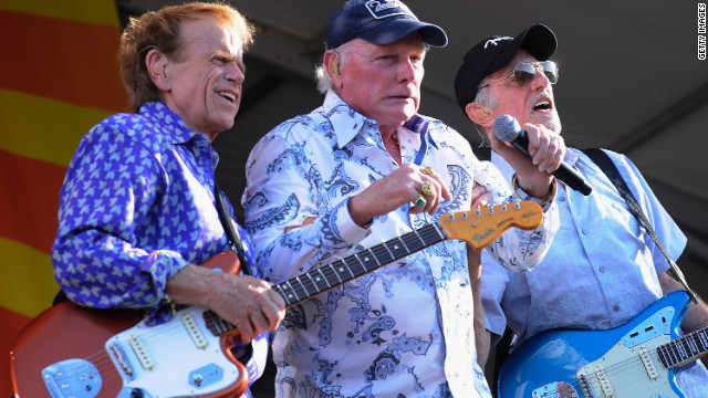  Al Jardine, Mike Love and David Marks perform during the 2012 New Orleans Jazz &amp;amp; Heritage Festival in April 2012 in New Orleans.