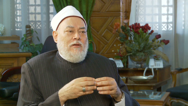The Grand Mufti of Egypt Ali Gomaa tells CNN conflict is not the answer but condemned cartoons as spreading hatred, calling them