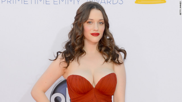 If Kat Dennings is slouching on the Emmys red carpet, here's why