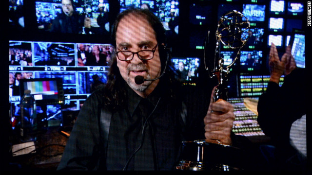 Director Glenn Weiss accepts the outstanding directing for a variety, music or comedy special for &quot;The 65th Annual Tony Awards.&quot;