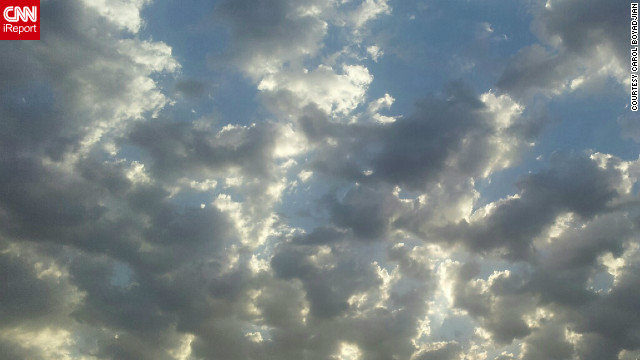 "In Beirut, Lebanon, Carol Boyadjian woke up early to <a href='http://ireport.cnn.com/docs/DOC-845338'>get this shot of clouds</a> with her Samsung Galaxy S2. ""The sky in Lebanon looks amazing in the mornings,"" she said."