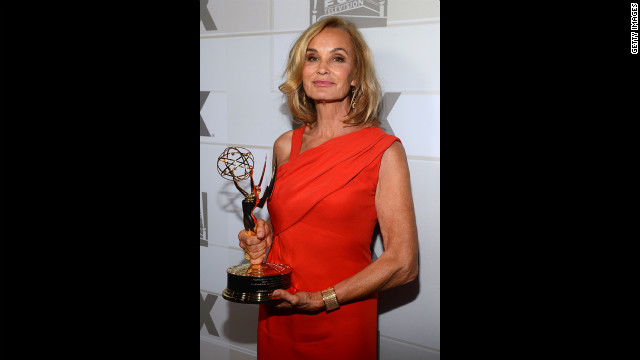 Jessica Lange wins the best supporting actress in a miniseries or movie for her role in &quot;American Horror Story.&quot;