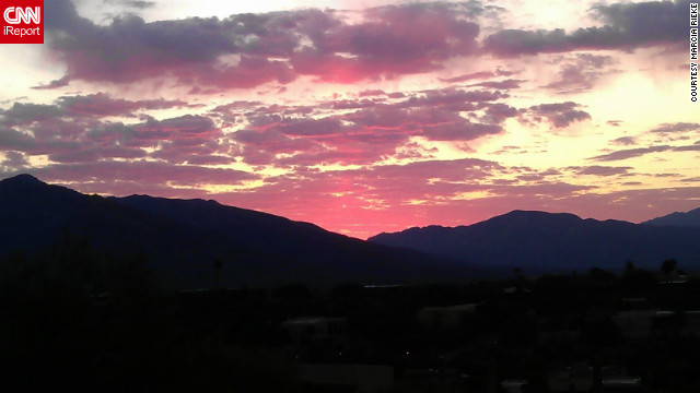 Marcia Rieke always has her phone with her -- an HTC Sensation -- but doesn't often use it to take pictures. She <a href='http://ireport.cnn.com/docs/DOC-845505'>captured this sunrise</a> from her balcony in Tucson, Arizona.
