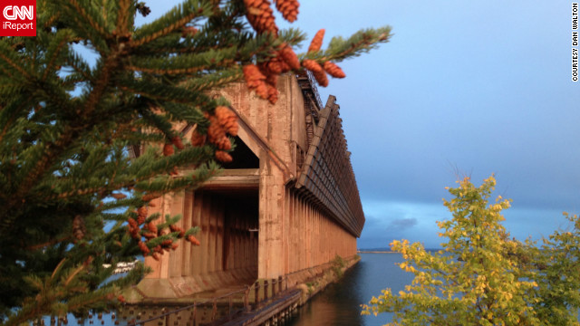 Dan Walton <a href='http://ireport.cnn.com/docs/DOC-847017'>used his iPhone 4S</a> during the late evening to capture this image of an iron ore dock in Marquette, Michigan.