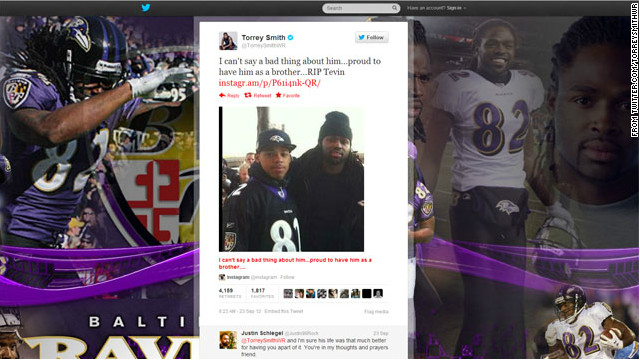 Ravens' Torrey Smith has inspiring game hours after brother's death
