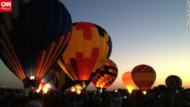 &quot;Once the sun began to set, I knew the amazing glow of the balloons would be a great pic,&quot; said Courtney Bilbrey, &lt;a href='http://ireport.cnn.com/docs/DOC-847411'&gt;who shot this photo&lt;/a&gt; with her iPhone 4S at the Hot Air Balloon Festival in Hot Springs, Arkansas.