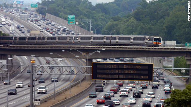 Atlanta turns to variable speed limit system to relieve highway congestion