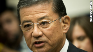 Veterans Affairs Secretary Eric Shinseki has set 125 days as a goal for processing veterans\' disability claims.