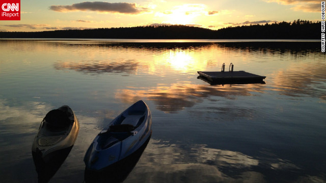 "Chris Cobourn <a href='http://ireport.cnn.com/docs/DOC-847080'>captured this sunset</a> in China Lake, Maine, with an iPhone 4. ""I love the light at that time of day. It is my favorite time to take a picture. I can just point and click and let nature do the rest!"""
