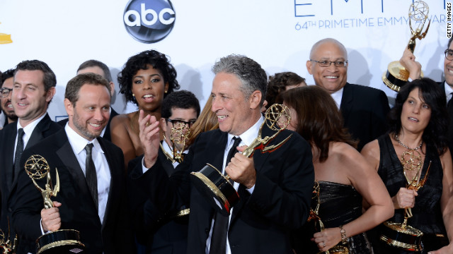 """The Daily Show With Jon Stewart"" wins the best variety series for a 12th consecutive year."