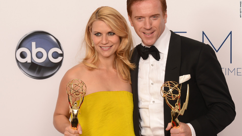 "Claire Danes and Damian Lewis take home Emmys for best lead actress and actor in a drama for ""Homeland"" at the 64th annual Primetime Emmy Awards on Sunday night, September 23. The psychological thriller from Showtime also won the award for top drama."