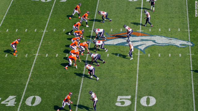 The Denver Broncos offense faces off against the Houston Texans defense on Sunday in Denver. The Texans defeated the Broncos 31-25.