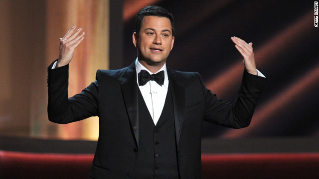 Kimmel's opening monologue, the first Emmy of the night