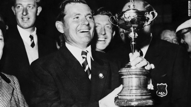 A very rare victory for Great Britain and Ireland saw a team led by Dai Rees capture the trophy at Lindrick in 1957 but the U.S. quickly regained the trophy and held it until 1985.