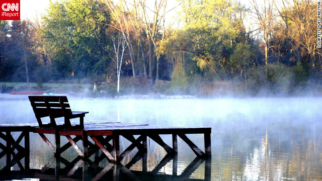 """I saw the early morning fog and thought it was a very interesting shot,"" said Yves Preston, who used an iPhone 4S <a href='http://ireport.cnn.com/docs/DOC-846030'>to get this shot</a> in Lac Du Cours, Wisconsin."