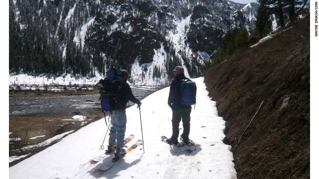 CNN's Wayne Drash and a friend trekked two miles through snow at Yellowstone National Park to fish for Walter, the lunker who always gets away.