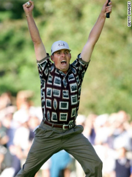 The 1999 Ryder Cup is regarded as one of the finest in the tournament's history. Justin Leonard holed a putt on the 17th, prompting an invasion from the U.S. team. Leonard's putt meant Olazabal had to find the cup to keep European hopes alive, but the Spaniard failed and the U.S. won 14 1/2 - 13 1/2.