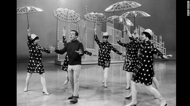 "Andy Williams performs ""The Sun Shines on Andy"" on his TV variety series ""The Andy Williams Show"" in the early 1960s. The singer, 84, died after a yearlong battle with bladder cancer on Tuesday night, September 25, his family said."