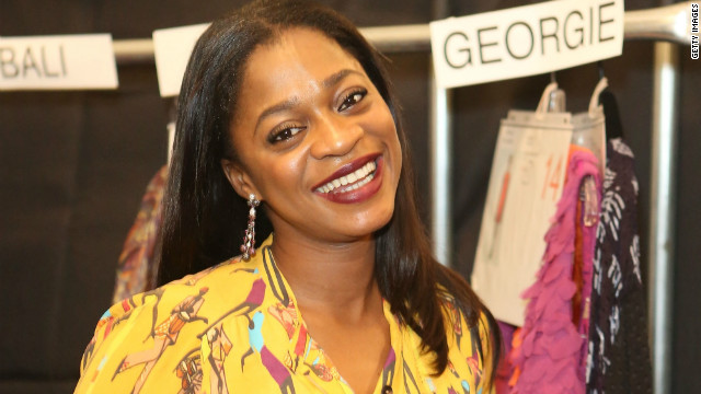 Nigerian fashion designer Folake Folarin-Coker, of Tiffany Amber.