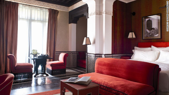 The Jacques Garcia--designed hotel is a sumptuous dwelling whose 1,200-square-foot Atlas Deluxe Suite features traditional Moroccan lanterns, mosaic tilework and views of the Atlas Mountains. $740; Km 5, Route d'Amizmiz; 212-5/24-45-96-00; selman-marrakech.com.