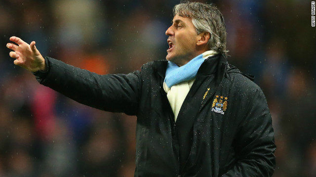 Roberto Mancini was left frustrated as Manchester City were eliminated from the League Cup.
