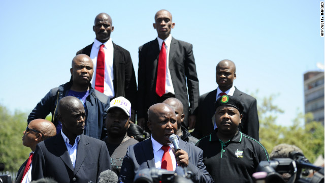 "Malema's speech included accusing his former friend President Jacob Zuma of having him arrested ""for anything."""