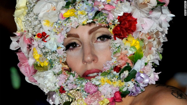 The singer is in bloom wearing this creation during 2013 London Fashion Week. Here are a few more of Lady Gaga's memorable outfits through the years: