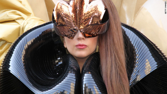 "At the Lady Gaga ""Fame"" perfume launch, the artist embraces her futuristic side."